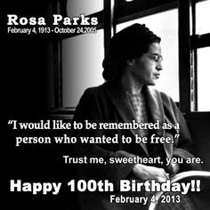 "Rosa Parks, born February 4, 1913 with the sun in Aquarius. The moon changed signs that day from Capricorn to Aquarius, where it conjuncted natal Uranus in her chart. ""I would like to be remembered as a person who wanted to be free,"" she said. ""I had been pushed as far as I could stand to be pushed. I had decided that I would have to know once and for all what rights I had as a human being and a citizen."" You can't get much more Aquarian than this lady!"