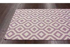One Kings Lane - Patterned Pieces - Mae Flat-Weave Rug, Lavender
