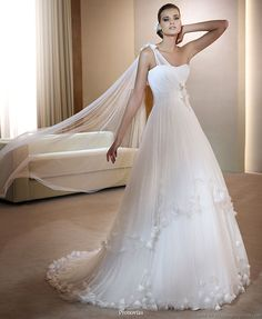 One-Shoulder Wedding Gowns
