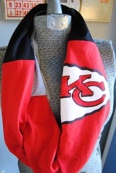 Kansas City Chiefs Upcycled TShirt Infinity by SeasonedWithStyle, $14.00