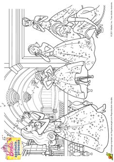 Coloriage Barbie Apprentie Princesse 26 Sur Hugolescargot