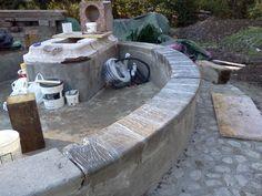 07 - lo stesso procedimento viene eseguito sui bancali in arenaria che ricoprono l'ovale esterno.