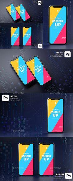 Smartphone Mockup Hologram. Dark Background Technology Concept 3D Rendering by Nmotion
