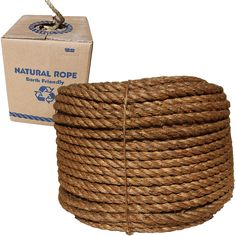 """1/4"""" x 600' Coil, 3-Strand Manila Rope $16.62 Need 250' for 5 containers high."""