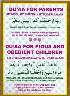 Du'a (prayer) for parents children Daily Du'as Duaa Islam, Islam Hadith, Allah Islam, Islam Quran, Quran Surah, Islam Muslim, Alhamdulillah, Islamic Phrases, Islamic Messages