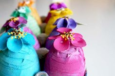 colorful canvas eggs tutorial diy ... http://alisaburke.blogspot.com/2010/03/colorful-canvas-eggs-tutorial.html#