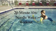 This is a 20-Minute workout shown in this 5 minute Aqua Noodle Abdominal Workout video. The exercises in this video are a visual demonstration of the moves u...