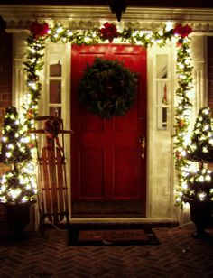 Outdoor Decorating For Christmas deco mesh and ribbon entry way for christmas decorating a
