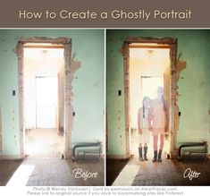 Learn how to create ghostly portraits in Photoshop... just in time for #Halloween! via @iHeartFaces