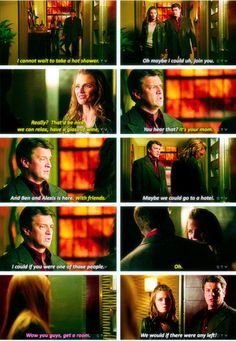 """Guys get a room"" Haha loved this Castle family scene :D"