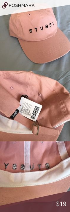 NWT Stussy pink hat Worn to try on, there are light scuffings but generally brand new Stussy Accessories Hats