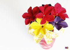Tutorial flor de tecido - dcoracao.com - blog de decoração