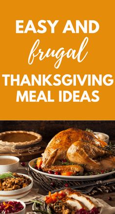 Easy and frugal thankgiving meal ideas that won't break the bank. Thanksgiving Potluck, Potluck Dinner, Dinner On A Budget, Dinner For Two, Thanksgiving Celebration, Frugal Meals, Cheap Meals, Budget Meals, Easy Meals