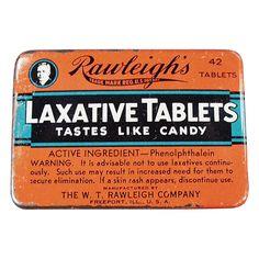 Old Medical Tin - Rawleigh Laxatives