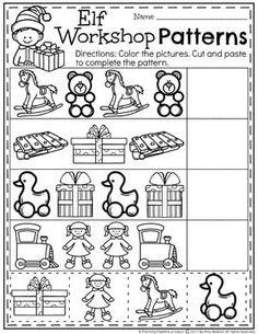 Christmas Patterns Worksheet for Preschool