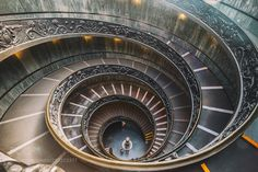 The Spiral Staircase - Spiral stairs of the Vatican Museums  designed by Giuseppe Momo in 1932  (Inspired by the spiral Bramante stairs)  http://ift.tt/2qNTt1o Do you like this? Visit my City & Architecture gallery if you want see more works!Thank you for your support!