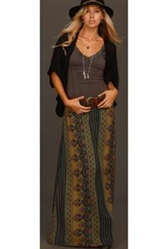 Maxi skirt...LOVE the layers