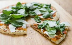 Spinach and Ricotta Salata Grilled Pizza // Grilled pizza! #summer #grill #recipe
