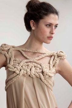 Harness dress by Daniel Silverman. Whoa whoa, goddess time.