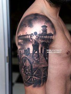 Cron - V Tattoo - Miguel Bohigues V Tattoo, Forarm Tattoos, Face Tattoos, Grey Tattoo, Funny Tattoos, Body Art Tattoos, New Tattoos, Sleeve Tattoos, Tattoos For Guys