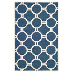 Safavieh Sullivan Texture Wool Rug - Navy Blue / Ivory (4' X 6'), Blue/Ivory
