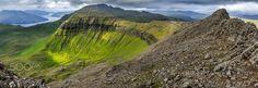 Mountain panorama over Streymoy - null