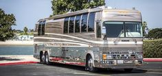 Prevost bus Conversions with Premier Motorcoach takes your imagination to the work of art! If you are looking for prevost masterpiece conversion in Orange County, contact us today! Prevost Coach, Prevost Bus, Le Mirage, Motorhome Conversions, Savage Life, Bus Coach, Bus Conversion, Busses, Rv Campers