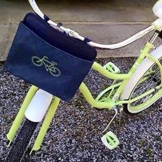 A great alternative to a bicycle basket! Carry books, water bottle, and more!