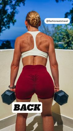 Back And Shoulder Workout, Back Workout Women, Back Fat Workout, Fitness Workout For Women, Back Exercises, Dumbbell Workout, Fat To Fit, Workout Challenge, Workout Videos