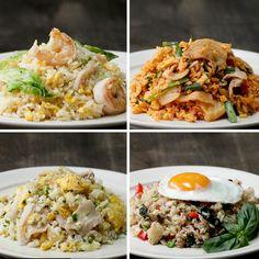 4 kinds of fried rice - Food and drink - Shrimp Recipes Meat Recipes, Asian Recipes, Chicken Recipes, Dinner Recipes, Cooking Recipes, Healthy Recipes, China Food, Good Food, Yummy Food