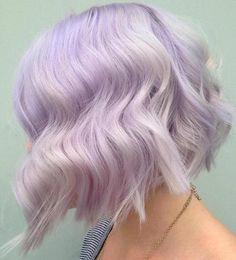 Choppy Pastel Purple Bob