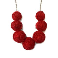 Fabric rose necklaces are actually really cool. Fab.com | Frilly Floral Necklaces