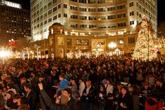 The Tree Lighting and Sing Along at Reston Town Center starts the evening Holidays are Here! activities at 6pm on Friday, November 23, 2012.