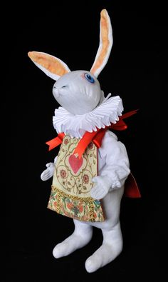 Our curiously Alice and White Rabbit dolls - nearly ready to be put on the shop now.