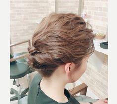 ヘアアレンジ  #creer_for_hair #美容室 #鹿児島市#鴨池 #ヘアセット #結婚式 #ボブスタイルのお客様