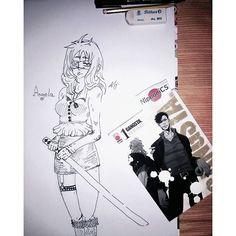 alex_mitsuki_neko/2016/08/16 07:11:15/#inspiredby #gangsta #inspiration #girl #curvy #cute #draw  #♥ #inked #worickarcangelo #nicolasbrown #alexturner #anime #manga #mydraw #creation