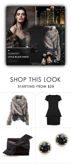 """""""Karl Lagerfeld Little Black Dress"""" by jgee67 ❤ liked on Polyvore featuring Karl Lagerfeld, Miu Miu and Victoria Beckham"""