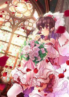 Reimu wedding dress #Touhou
