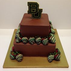 Classic Baylor grooms cake