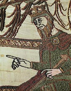 On the April Edward the Confessor was crowned King of England at Winchester Cathedral. Detail from Bayeux Tapestry, France, century. Anglo Saxon Kings, Anglo Saxon History, British History, Art History, Bayeux Tapestry, Medieval Tapestry, Medieval World, Medieval Art, Vikings