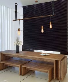 Copper Wood, Ping Pong Table, Ceiling Lights, Lighting, Type 3, Simple, Bond, Furniture, Facebook