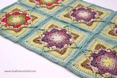 Crochet Squares, Crochet Granny, Crochet Motif, Knit Crochet, Crochet Patterns, Crocheted Afghans, Crochet Blankets, Granny Squares, Ross And Demelza