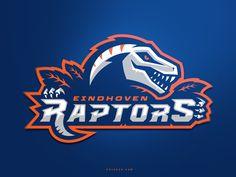 Eindhoven Raptor by Khisnen Pauvaday - Dribbble St Logo, Panther Logo, Esports Logo, Sports Team Logos, Fashion Logo Design, Typographic Logo, Photography Logo Design, Logo Sticker, Animal Logo