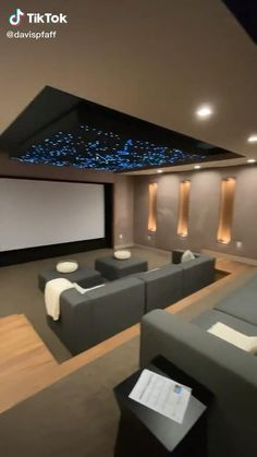 Theater Room Decor, Home Theater Room Design, Movie Theater Rooms, Home Cinema Room, Movie Rooms, Attic Bedroom Designs, Bedroom Ideas, Cosy Bedroom, Bathroom Design Inspiration