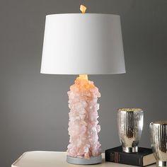 Rose Quartz lamp loving glow