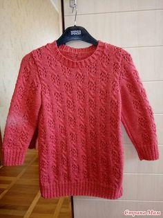 Нарядный пуловер для дочери.
