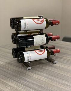 Wine Racks by Clever Chef Premium Black Plastic Stackable Wine Rack