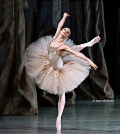 "Yekaterina Kondaurova in ""Jewels"" taken at Mariinsky Theatre /Balanchine Trust /photo by Gene Schiavone"