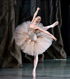 """Yekaterina Kondaurova in """"Jewels"""" taken at Mariinsky Theatre /Balanchine Trust /photo by Gene Schiavone"""