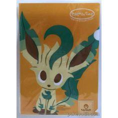 Pokemon Center 2015 Pokemon Time Campaign #8 Leafeon A4 Size Clear File Folder